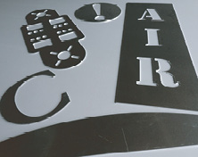 CNC routing stencil